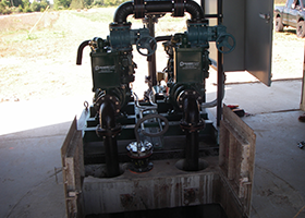 Retrofitted Skid Mounted Pump System