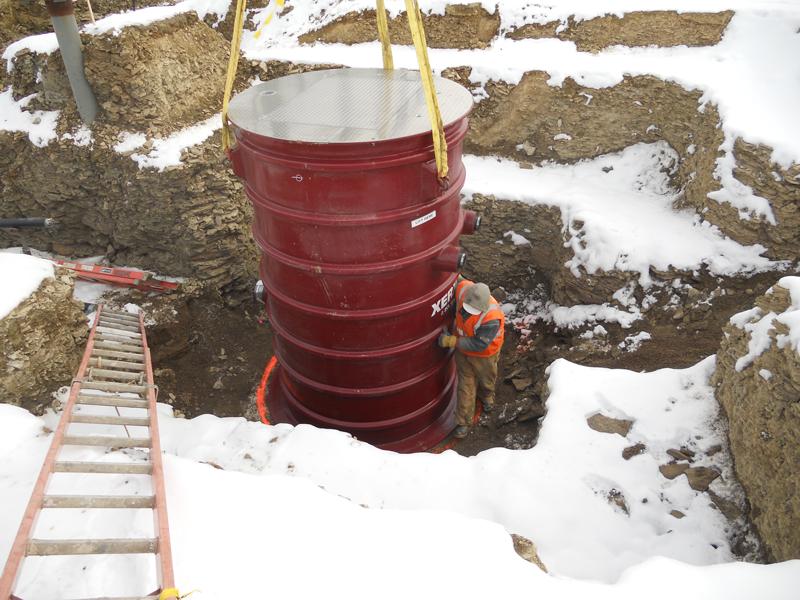 Fiberglass Basin for Leachate Pump Station
