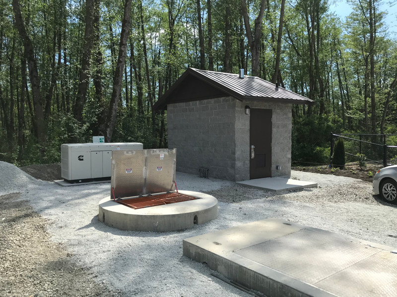 Installed Package Lift Station for Conveying Wastewater to Treatment