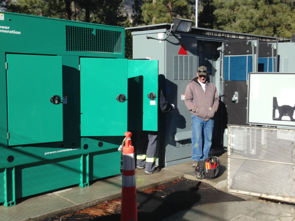 Large Diesel Generator Providing Fail-Safe Power for This System