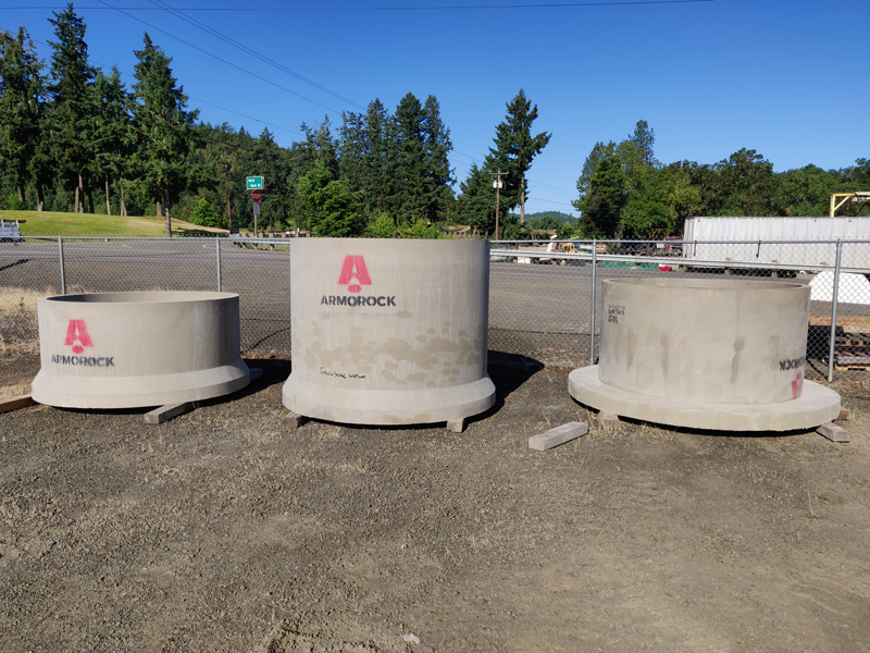 Precast Polymer Wet Well Rise Sections Ready for Installation