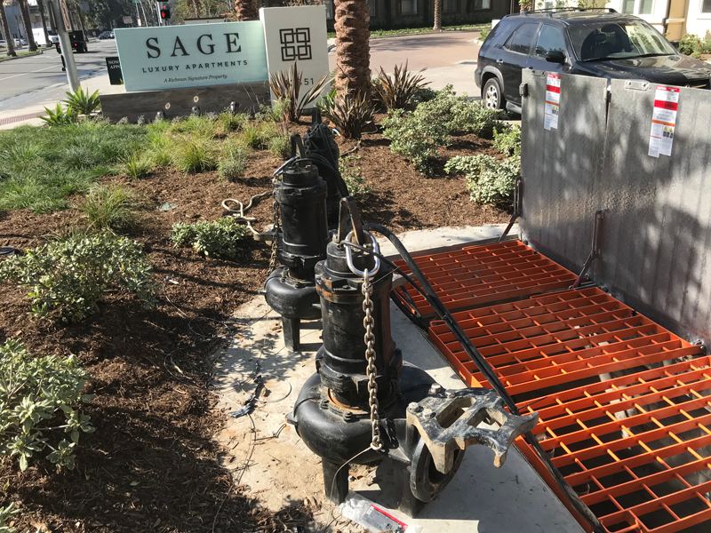 Three Large Pumps Suitable for Large Flows of Stormwater