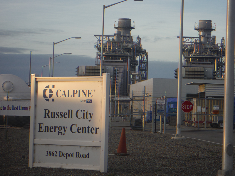 Russel City Energy Center is a Power Generation Plant