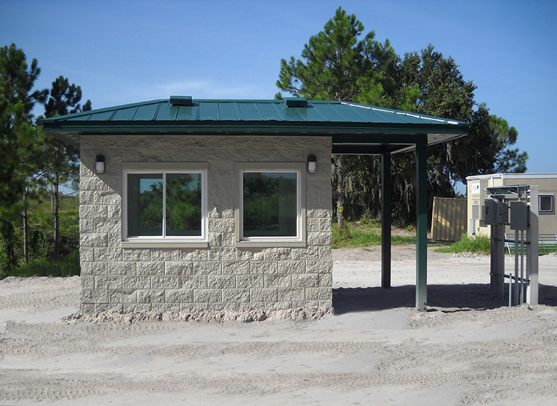 Gatehouse Building for Security Personnel Onsite