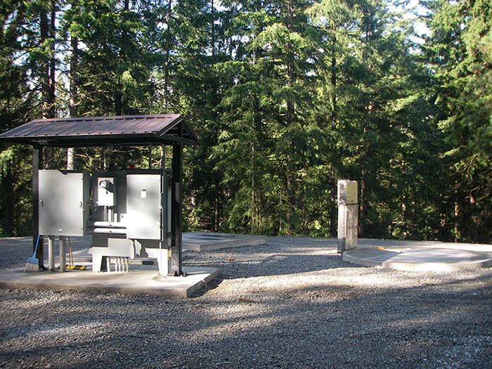 Wastewater Lift Station with Two Post Shelter