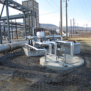 Pumping Skid in a Romtec Utilities System