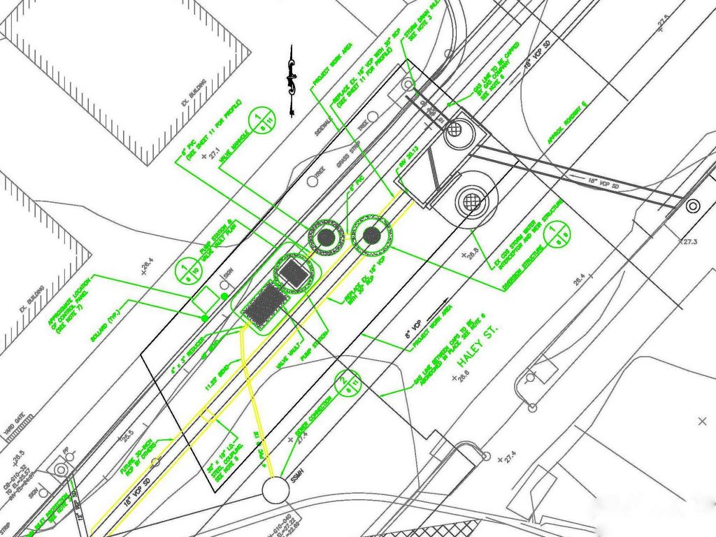 Site Plan for the Haley Street Stormwater Pump Station