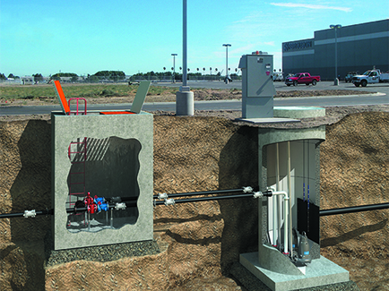 Rendering of a Wastewater Lift Station in Stockton, California