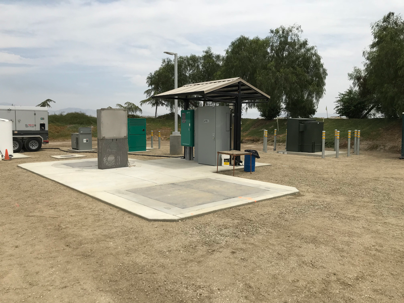 Finished Lift Station for Large Development Underway