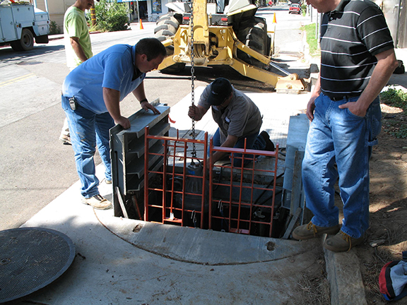 Submersible Pump Being Installed