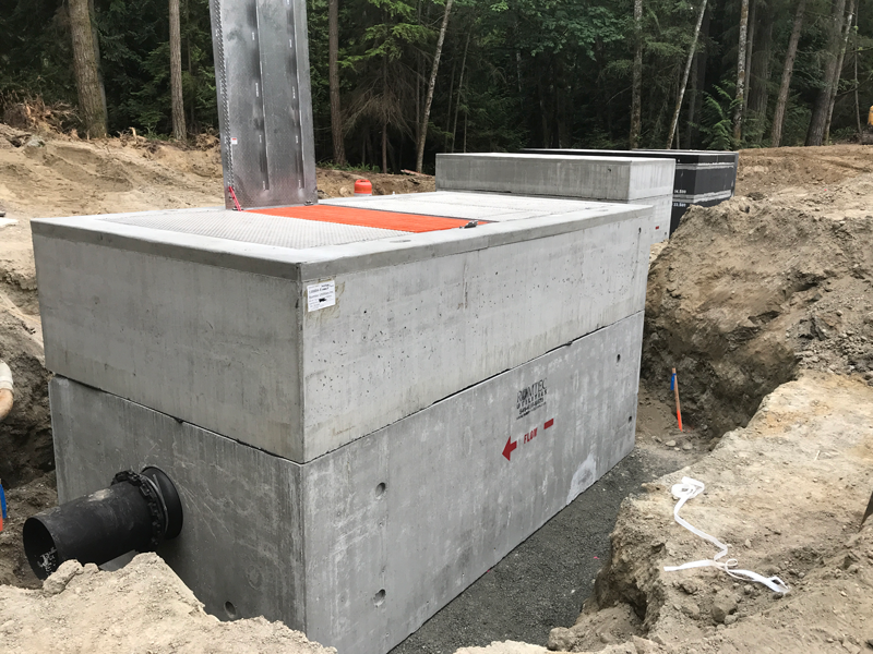 Large Precast Concrete Vault Installed in Sections