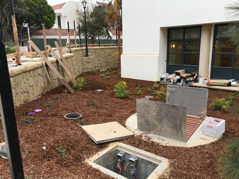 Finished Construction of New Pump Station with Landscaping