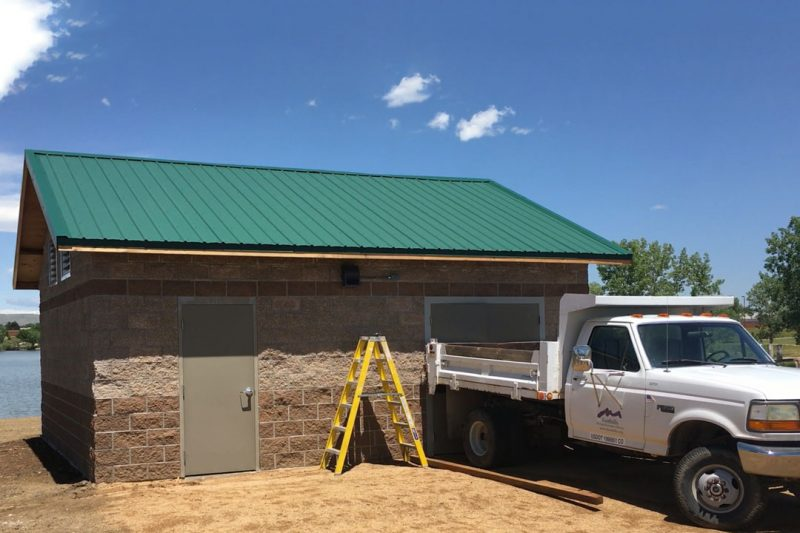 Irrigation Control Building Designed to House Booster Pump Station