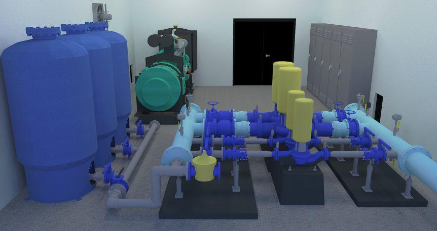 Rendering Potable Water Pump
