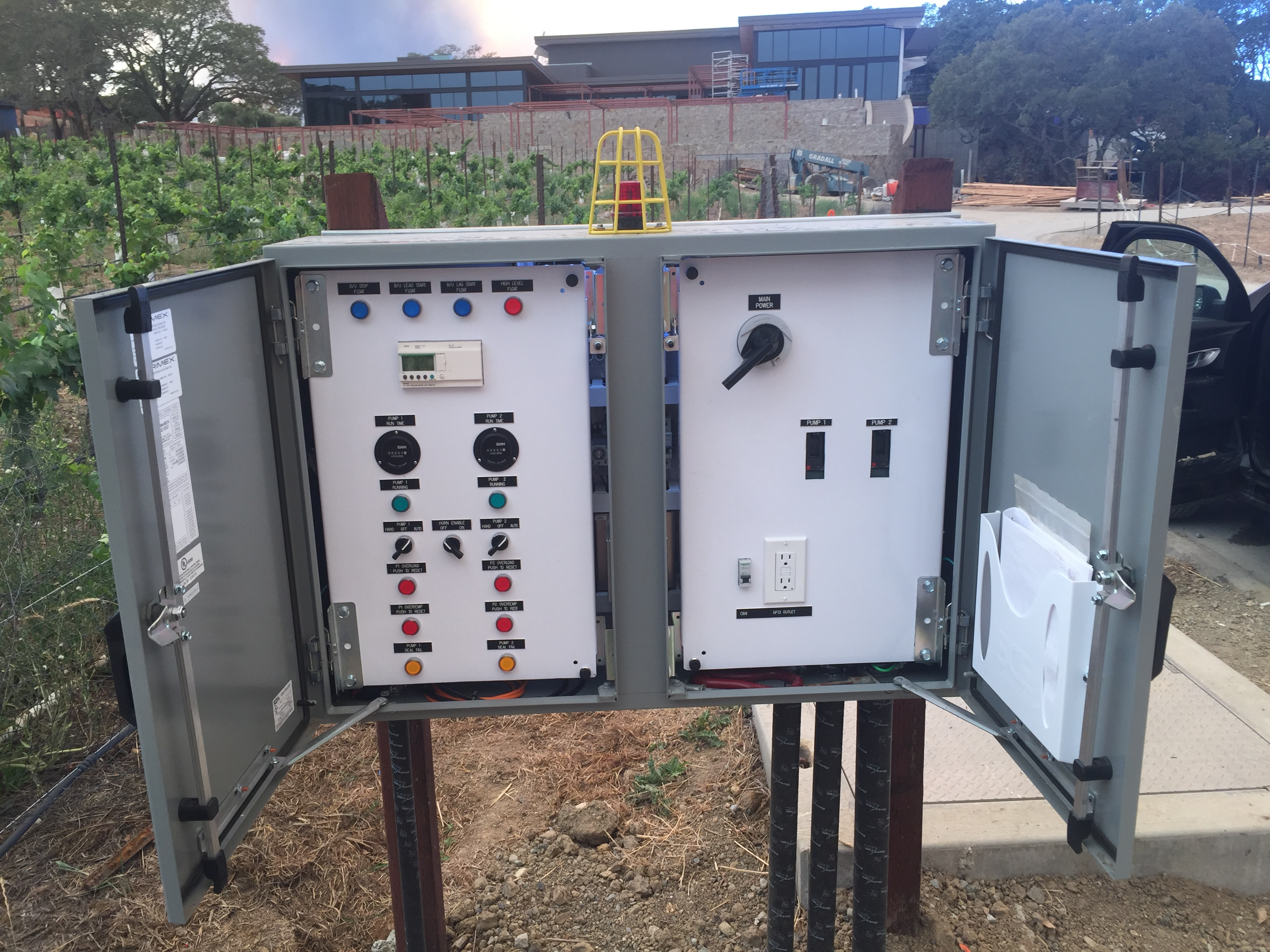 Double Control Panel for Pump Station