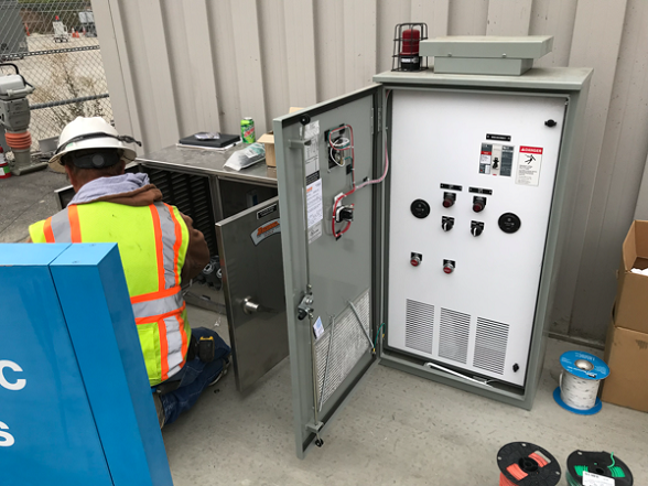 Installation of Lift Station Electrical Panels
