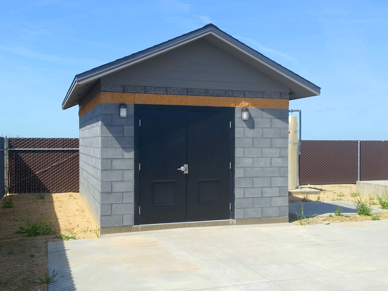 Modern Utility Building for Lift Station